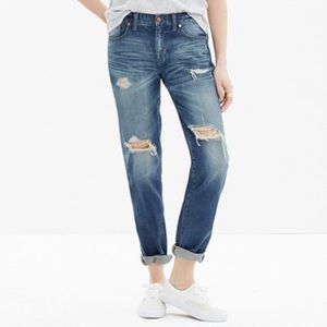 Madewell Boy Jean: Distressed Destroyed Edition